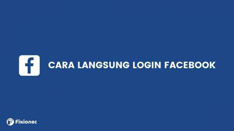 cara langsung login facebook