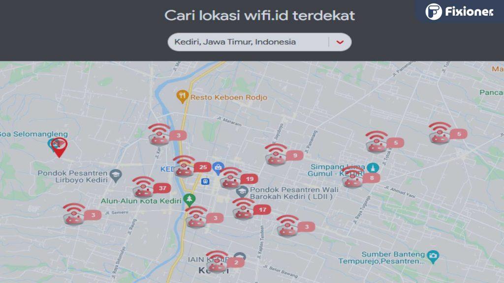 wifi corner terdekat