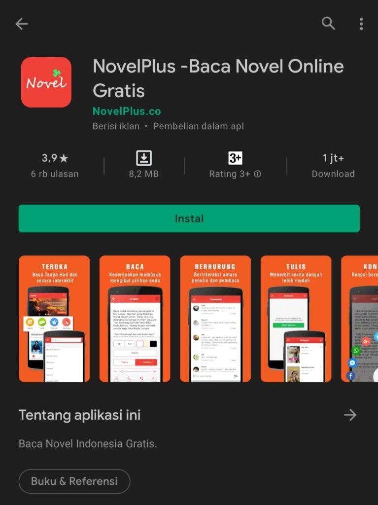 Aplikasi Baca Novel gratis